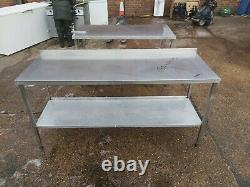 Stainless steel worktop table for kitchen heavy duty commercial 182X65X90 CM