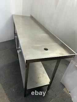 Stainless steel worktop table for kitchen heavy duty commercial 230X61X85CM