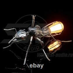 Steampuk Table Lamp Ant Unique Handmade One-of-a-Kind. Industrial Elegance