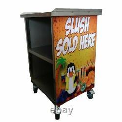 TRIPLE, TWO bowl slush machine stainless steel table, L71xW63xH80