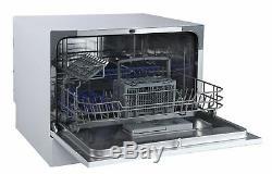 Table Dishwasher PKM Silver Small Dishwasher Mini Dishwasher 6 Place Settings