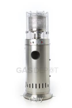 USED/DENTEDREALGLOW Bullet Patio Heater 13kw Table Floor Stainless Steel